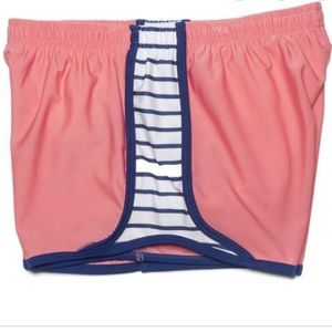 Krass & Co coral athletic shorts